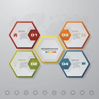 Elemento di design infografica processo 4 passaggi.