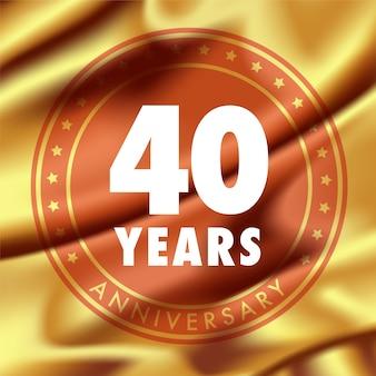 40 ° anniversario l in panno di seta