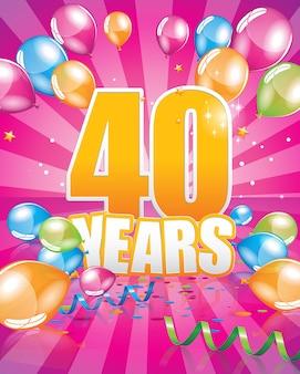 Biglietto di auguri di 40 anni