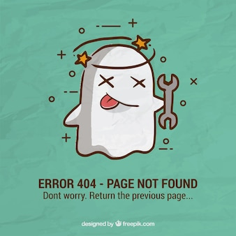 Errore 404 sfondo con fantasma