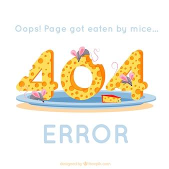 404 background di errore con i topi che mangiano il formaggio
