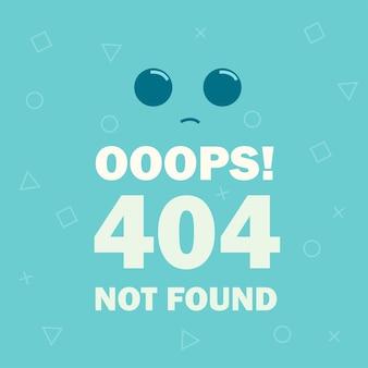 Errore 404 emoticon di pagina non trovata - illustrazione vettoriale moderna