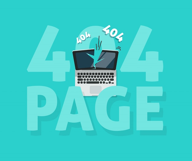 Pagina di errore 404 non trovato modello