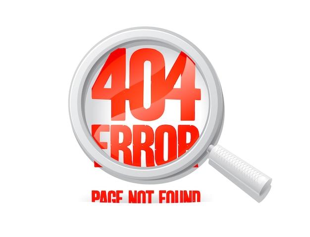 Segno di errore 404 web