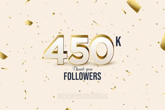 450k follower con pezzi d'oro sparsi