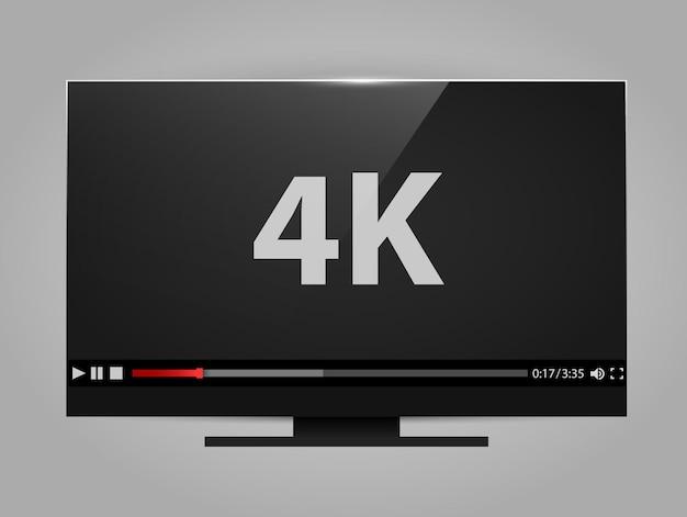 Schermo tv 4k con lettore video