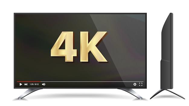 Schermo tv 4k Vettore Premium