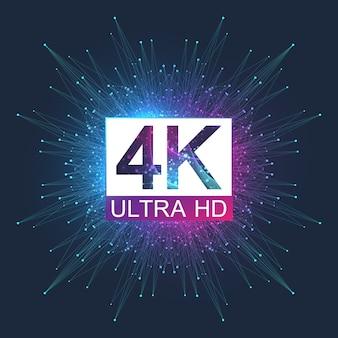 4k ultra hd. astratto sfondo sfumato stile 4k uhd tv