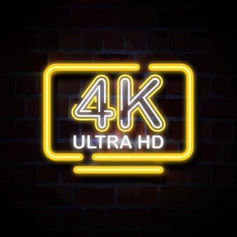 4k ultra hd illustrazione insegna al neon
