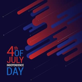 4 luglio con bandiera americana a colori