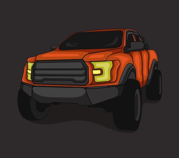 Illustrazione di vettore della città dell'automobile 4wd