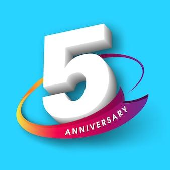 5 emblema di anniversario