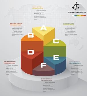 Elemento infografica di livello 5 passaggi per la presentazione.