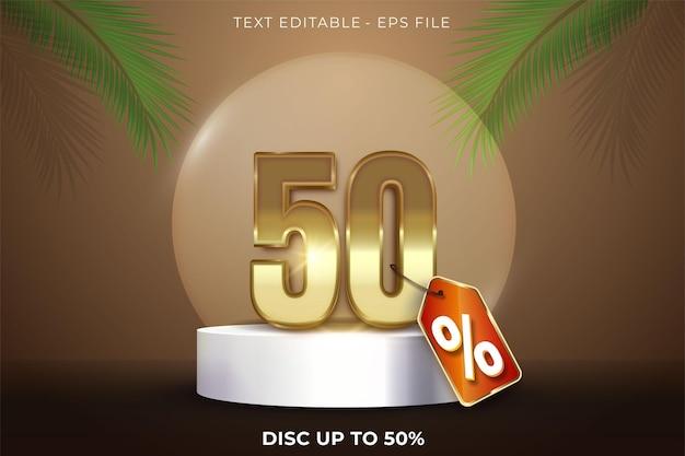 50% di sconto sul design 3d estivo sulla scena del podio del prodotto