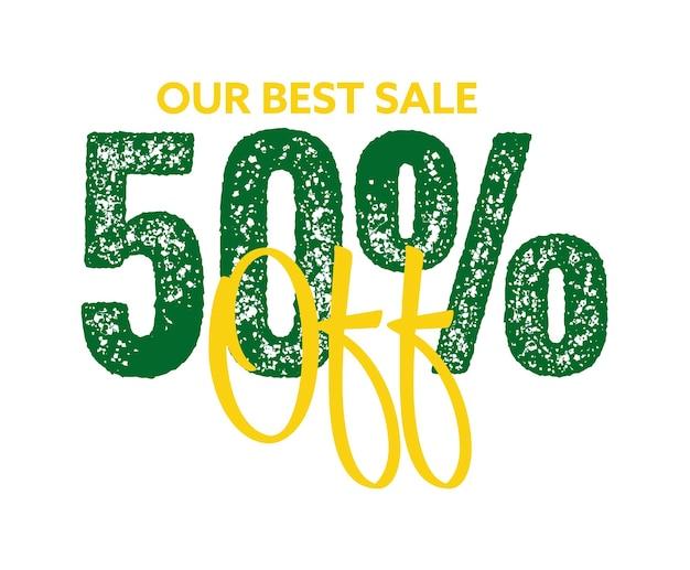 50 percento di sconto sul nostro miglior adesivo promozionale in vendita