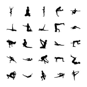510 pittogrammi riempiti di yoga