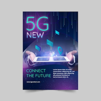 5g flyer concetto verticale