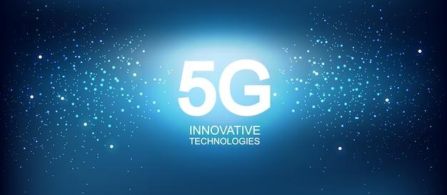 5g composizione astratta di tecnologie innovative