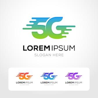 Collezione logo internet 5g