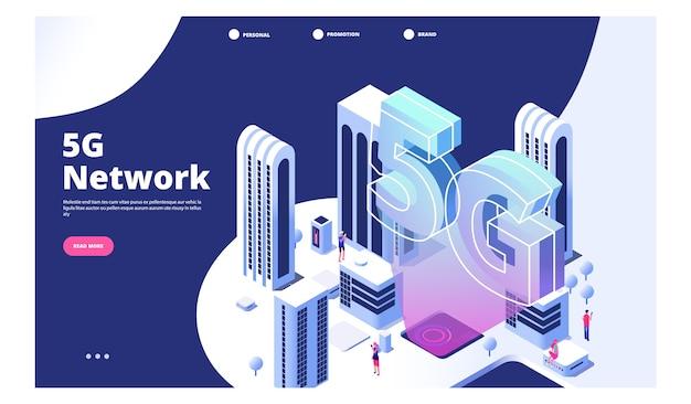 5g concetto di rete