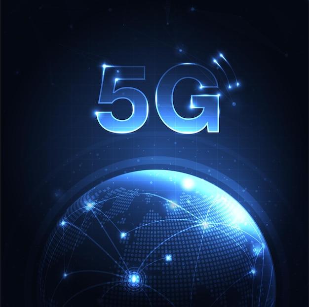 Rete 5g internet wireless connessione wi-fi concetto di rete di comunicazione banda larga ad alta velocità