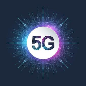 Sistemi wireless di rete 5g e illustrazione di internet