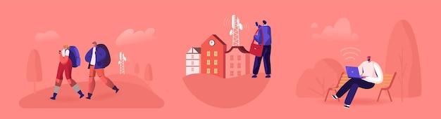 Illustrazione della tecnologia wireless di rete 5g
