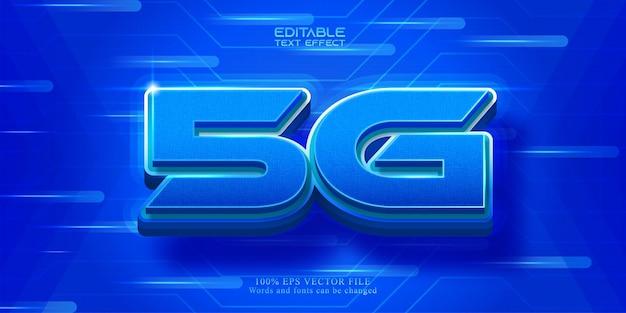 Effetto di testo 5g per la tecnologia di rete