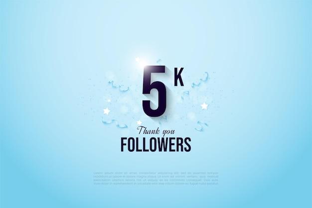 5k follower con numero e nastri