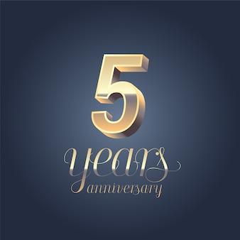 5 ° modello di anniversario