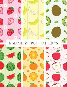 6 modelli di frutta senza cuciture.