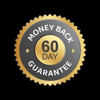 Distintivo di fiducia di vettore di garanzia di rimborso di 60 giorni