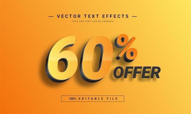 Il 60% offre un modello di effetto testo modificabile