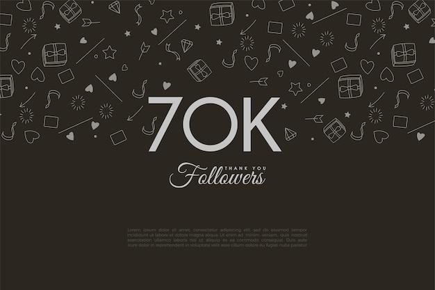60k follower con metà dello sfondo illustrato.