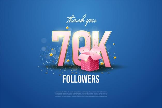 60k followers con numeri illustrati e confezioni regalo.