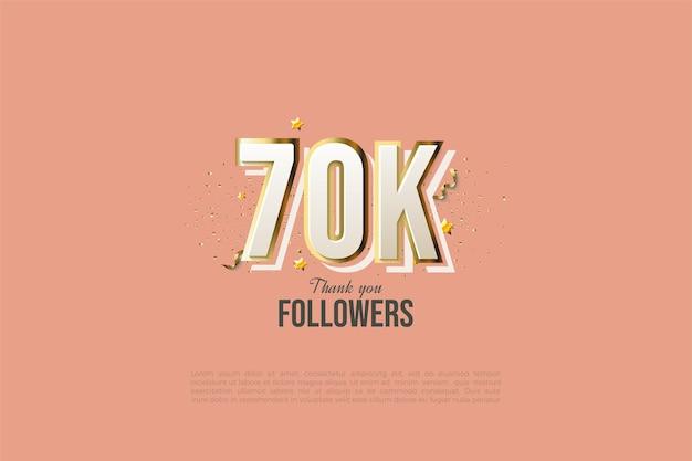 60k followers con illustrazioni di figure moderne di graffiti in 3d.
