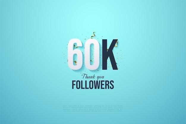 60k follower con illustrazioni numeriche e una festa festiva alle spalle.