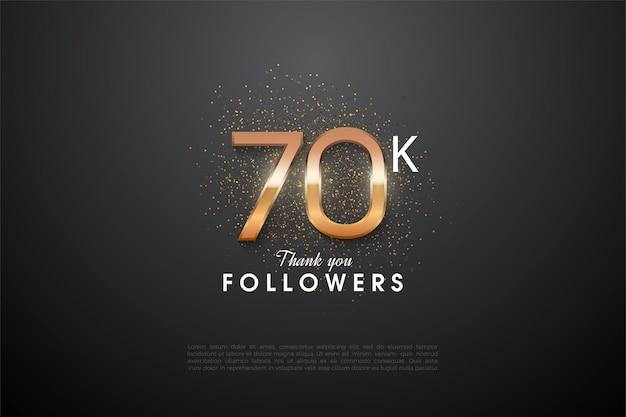60k follower con una raggiante illustrazione del numero 3d al centro del numero.