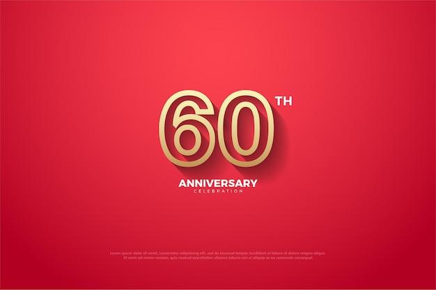 Sfondo del 60 ° anniversario