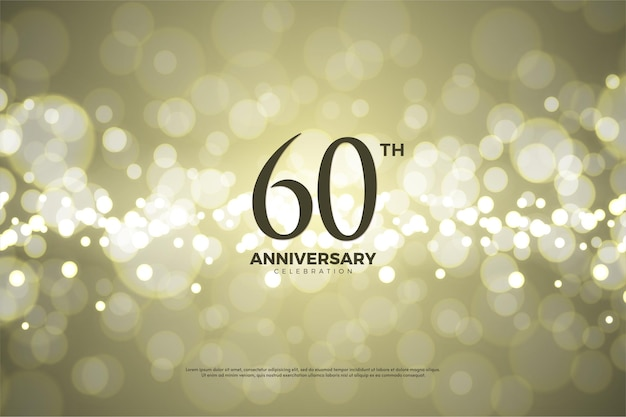 60 ° anniversario con numeri tridimensionali.