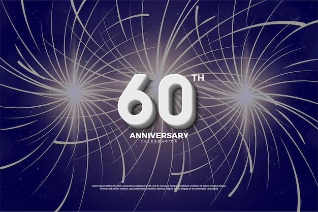 60 ° anniversario con fuochi d'artificio