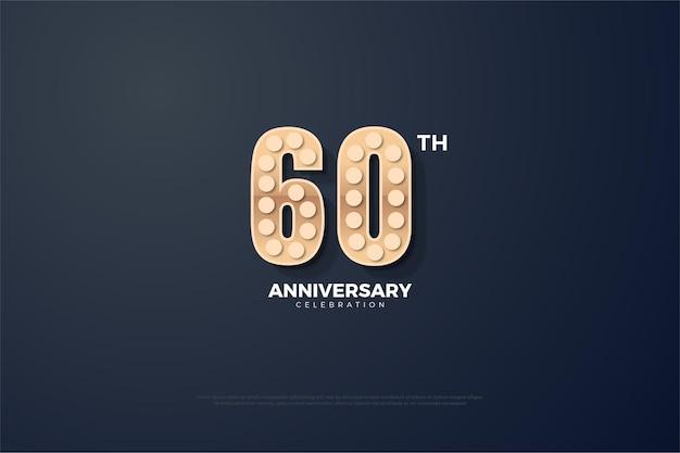 60 ° anniversario con figure strutturate.