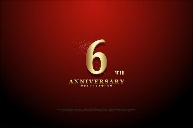 6 ° anniversario dello sfondo