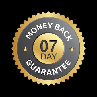 Disegno vettoriale distintivo di garanzia di rimborso di 7 giorni