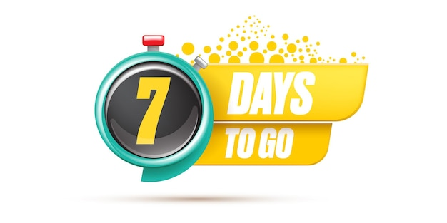 7 giorni per andare modello di progettazione banner