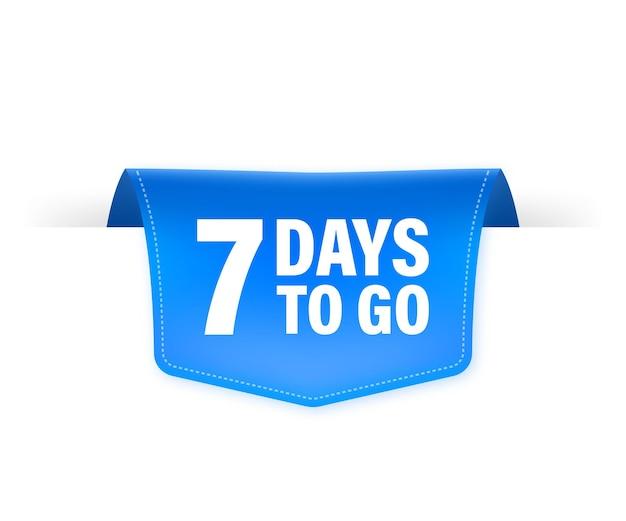 7 giorni per andare poster in stile piatto. illustrazioni per la gestione del tempo.