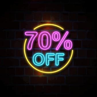 70% di sconto sull'insegna al neon
