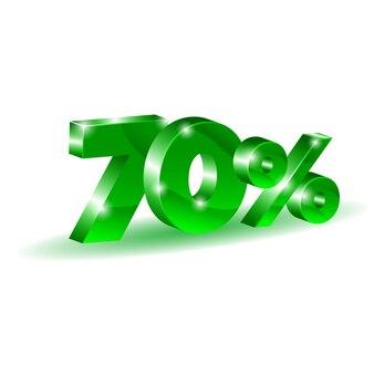 70 per cento di sconto, vendita, oggetto 3d