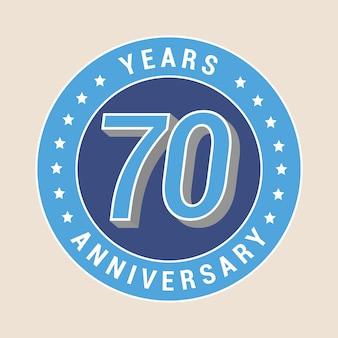 Modello di anniversario di 70 anni