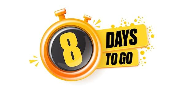 8 giorni per andare modello di progettazione banner